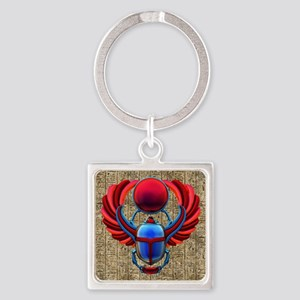 Colorful Egyptian Scarab Keychains