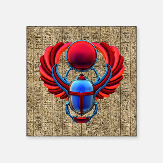 Colorful Egyptian Scarab Sticker