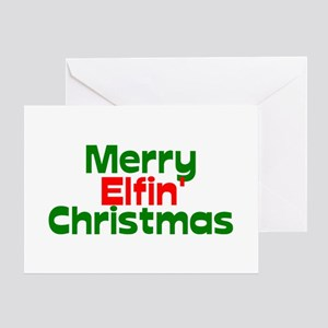 Merry Elfin' Christmas Greeting Cards
