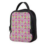 Pink Butterfly Pattern Neoprene Lunch Bag