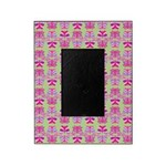 Pink Butterfly Pattern Picture Frame