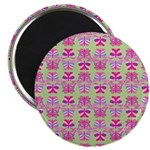 Pink Butterfly Pattern Magnets