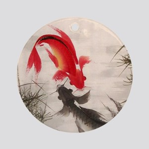 Koi fish Round Ornament