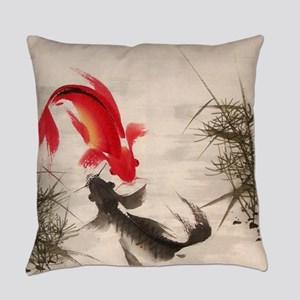 Koi fish Everyday Pillow
