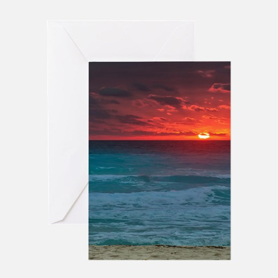 Sunset Beach Greeting Cards