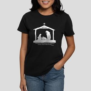 Nativity Scene (Luke 2:11) Women's Dark T-Shirt