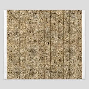 Egyptian Hieroglyphics King Duvet