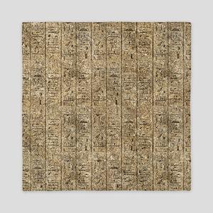 Egyptian Hieroglyphics Queen Duvet