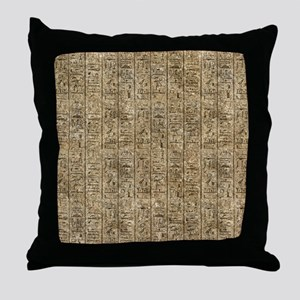 Egyptian Hieroglyphics Throw Pillow