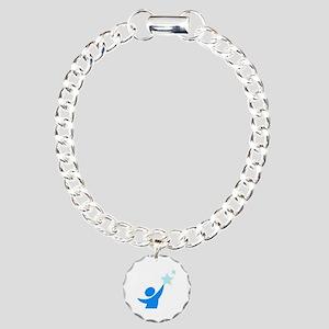 Apraxia awareness  Charm Bracelet, One Charm