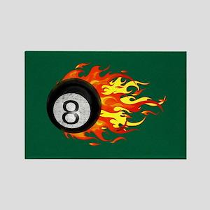 Flaming 8 Ball Magnets