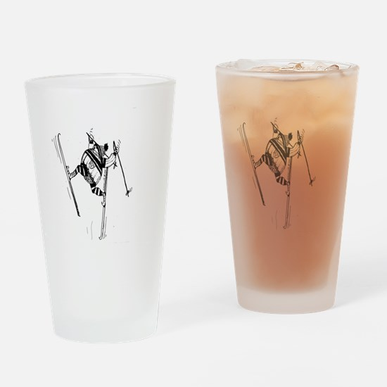 I LOVE to Ski Drinking Glass