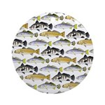 Seatrout and Drum Pattern Round Ornament