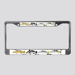Seatrout and Drum Pattern License Plate Frame