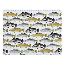 Ocean Fish Pattern 4 Wall Calendar