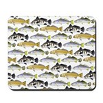 Seatrout and Drum Pattern Mousepad