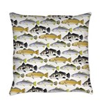 Seatrout and Drum Pattern Everyday Pillow