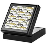 Seatrout and Drum Pattern Keepsake Box