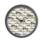 Seatrout and Drum Pattern Wall Clock