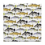 Seatrout and Drum Pattern Tile Coaster