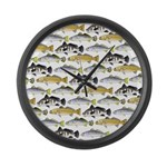 Seatrout and Drum Pattern Large Wall Clock