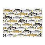 Seatrout and Drum Pattern 5'x7'Area Rug