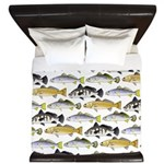 Seatrout and Drum Pattern King Duvet