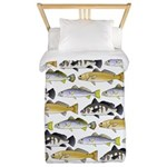 Seatrout and Drum Pattern Twin Duvet