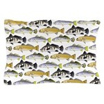 Seatrout and Drum Pattern Pillow Case