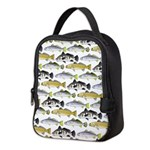 Seatrout and Drum Pattern Neoprene Lunch Bag
