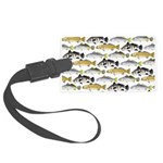 Seatrout and Drum Pattern Luggage Tag