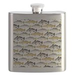 Seatrout and Drum Pattern Flask