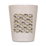 Seatrout and Drum Pattern Shot Glass