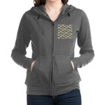 Seatrout and Drum Pattern Women's Zip Hoodie