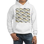 Seatrout and Drum Pattern Hoodie
