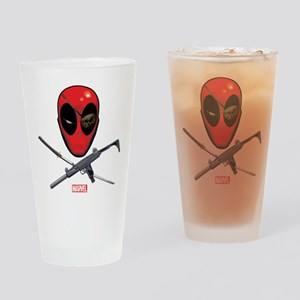 Deadpool Jolly Roger Drinking Glass