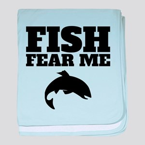 Fish Fear Me baby blanket