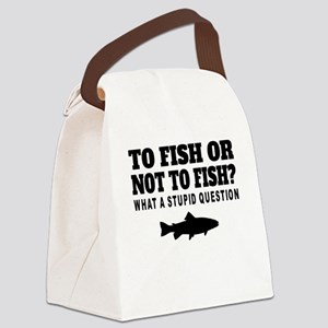 To Fish Or Not To Fish Canvas Lunch Bag