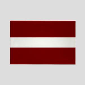Latvian Flag Rectangle Magnet