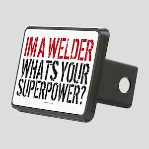 Welder is my Superpower Rectangular Hitch Cover