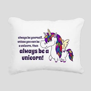 ellagee unicorn Rectangular Canvas Pillow