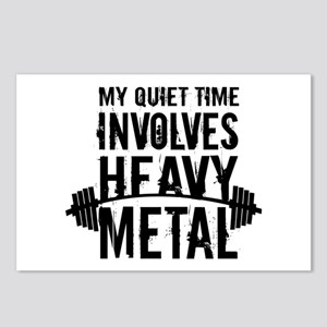My Quiet Time Involves Heavy Metal Postcards (Pack
