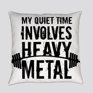 My Quiet Time Involves Heavy Metal Everyday Pillow