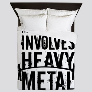 My Quiet Time Involves Heavy Metal Queen Duvet