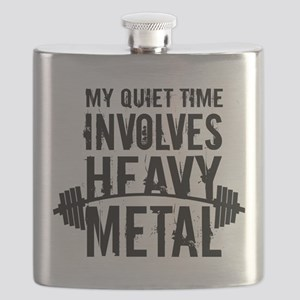 My Quiet Time Involves Heavy Metal Flask