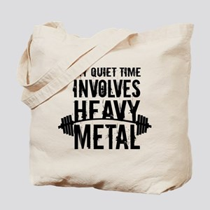 My Quiet Time Involves Heavy Metal Tote Bag