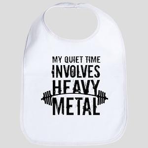 My Quiet Time Involves Heavy Metal Bib