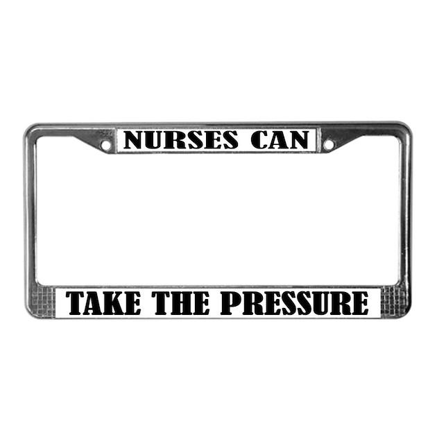 Funny Nursing License Plate Frame By Jobtees