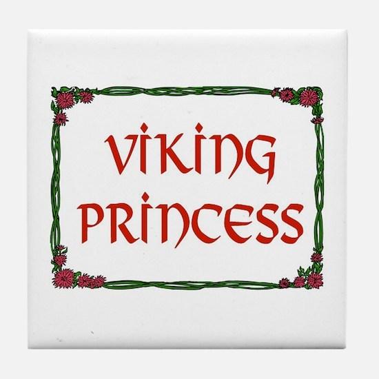 VIKING PRINCESS Tile Coaster