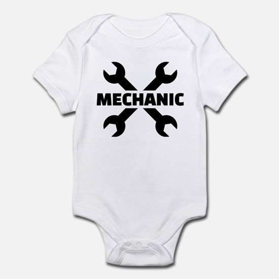 Crossed screw wrench mechanic Infant Bodysuit